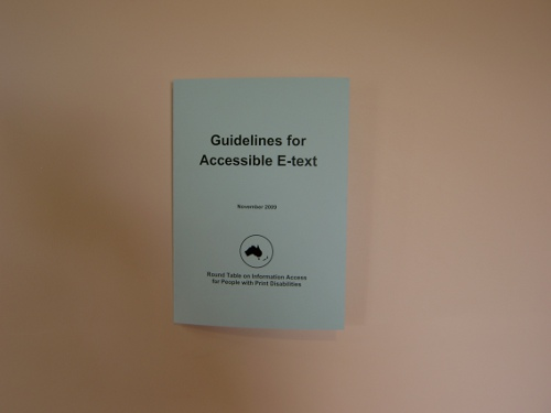 Round Table Guidelines for Accessible E-text